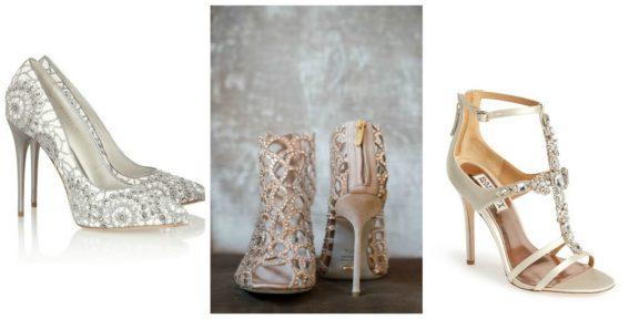 buty z kryształkami