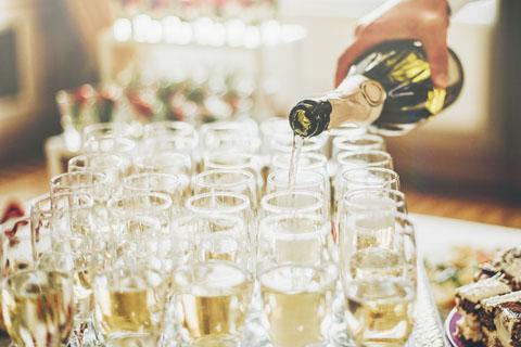 szampan na wesele